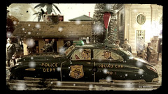 1949 DICK TRACY SQUAD CAR NO. 1 (-WHITEFIELD-) Tags: dicktracy squadcar no1 christmas christmasvillage underthetree 1949 police cop vintage xmasvillage flattop comicstrip machinegun gangster americanflyer lionel trainlayout ives trainstation priceless toysfromthepast