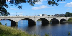 Victoria Bridge, Aberdeen, July 2017 (allanmaciver) Tags: victoria bridge torry aberdeen dee river ferry disaster 1876 1881 granite silver city north east coast blue trees arches solid viewpoint allanmaciver