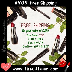 Today ONLY - Free Avon Shipping (cjteamonline) Tags: augustfreeshipping avon avonaugustfreeshipping avoncouponcodes cjteam couponcodes finalday freeavon freeshipping freebiefriday goingfast julyfreeshipping lastday limitedquantities limitedtime onedayonly onetimeuse onlinepromotion orderavononline ordertoday promotion ra2508 sale tgif thecjteam today whilesupplieslast
