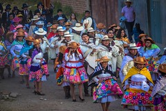 Huancayo parades included traditional colourful skirts.