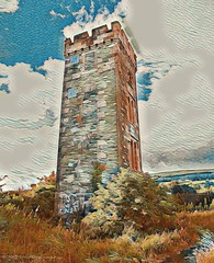 Ardencaple Castle Light (Rollingstone1) Tags: ardencaplecastle light lighthouse tower building architecture castle helensburgh scotland navigationalaid firthofclyde colour vivid landscape art artwork
