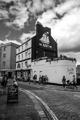 The Navy Inn (_John Hikins) Tags: black bw blackwhite blackandwhite inn pub monochrome white street nikon nikkor 1020 1020mm clouds plymouth barbican hoe d5500 devon