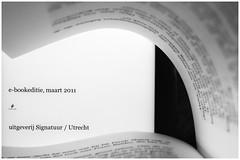 Page Turner (Inky-NL) Tags: evolution ingridsiemons©2017 ebook book page letters past present hmm bw blackandwhite monochrome text tekst macro ereader read reading lezen macromondays theme bladzijde screen