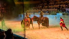 The epic battle between good vs evil. (kuntheaprum) Tags: medievaltimes dinnershow horse sword lance joust nikon d750 sigmaart 50mm f14