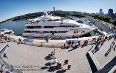 The Blue Moon Yacht - Old Port of Montreal (Steve Troletti™ Nature & Wildlife Photographer) Tags: big blue boat british canada dock expensive famous france incognito montreal moon old port quebec rich water world yacht nikon 100th outdoors float d810 fisheye