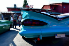 Impala 1959. (Papa Razzi1) Tags: 9436 2017 238365 chevy chevrolet all 1837 1959 v8 vegabaren carmeet sweden stockholm summer grandprixraggarbil2017