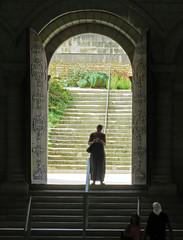 Qui est là ? / Who is here ? (universeau) Tags: eglise church escaliers contrejour apparition révélation femme portes coïncidence old biblique silhouette personage