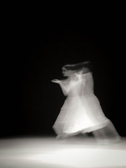 Seoul Dance Blur 2 (Robert Borden) Tags: elph canon dance blur monochrome blackandwhite bw motion dancer contemporarydance woman seoul southkorea asia