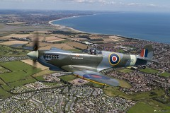 Flying with Spitfires (Mr Mo-Fo) Tags: spitfire cityofexeter sky sea land fighter raf wwii propeller flyingwithspitfirescom aerial plane warplane worldwarii desmorris canoneos1dx rr232