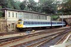 305517 Edinburgh Waverley 1992 (jonf45 - 3 million views-Thank you) Tags: trains railway br british rail emu electric multiple unit regional railways liveried 305517 class 305 edinburgh waverley 1992