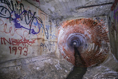 Redbrick Tunnel (Voodoooz) Tags: urbex urban explore abandoned drain brisbane city queensland australia tourist water street river house me red blue white tree sky night art light summer old hot sexy babe travel tourer adventure camera building extreme danger photography flashback indoor architecture beam alley texture abstract surreal wall