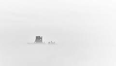 negative space (Anthony White) Tags: purbeckdistrict england unitedkingdom gb fineart mist misty rolling jurasiccoast castle sonyalpha slta77v negativespace abandoned spooky ghostly oncewashome