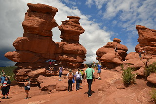 The Siamese Twins at the Garden of the Gods can be a busy place