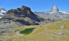 Rocky Matterhorn Landscape with small lake_Gornergrat_220817_01 (DS 90008) Tags: gornergrat mountains landscape wildlife nature water snow matterhorn wild switzerland zermatt