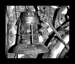 lamp... (Stu Bo) Tags: blackandwhite bnw monotone bw rusty crusty parts things relic sbimageworks shadows light old