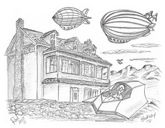 Hickory (rod1691) Tags: bw scifi grey concept custom car retro space hotrod drawing pencil h2 hb original story fantasy funny tale automotive art illistration greyscale moonpies sketch sexy