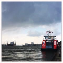 Hamburg Hafen (dougfot) Tags: passenger cruise ship ferry estuary elbe water harbour hafen hamburg hipstamatic
