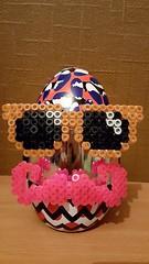 Pimp my Easter Egg - version 1 (Claire Coopmans) Tags: pixels pixelart pixel hamabeads hama moustache lunettesdesoleil lunette sunglasses aimant egg easter easteregg galler jeangaller chocolat hipster belgique belgium perle perles perler