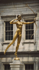 Serene (dayman1776) Tags: classical nude sculpture woman diana goddess bow arrow myth mythology bronze golden statue nyc metropolitan museum