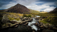 Pen yr Ole Wen, Llyn Ogwen, Snowdonia (throzen) Tags: snowdonia snowdon wales europe uk nature natural landscape beauty beautiful outside outdoors summer canon eos 700d dslr mountain mountains stream water rocks sky cloud clouds