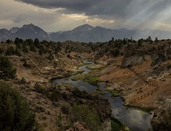 Hot Creek | Owens Valley California (sierra_bum) Tags: canon color landscapes rays clouds mountains california flickr