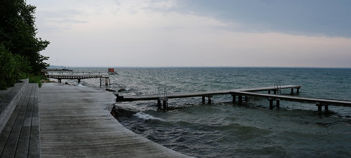 The excellent swimming jetties at Bjerre Strand