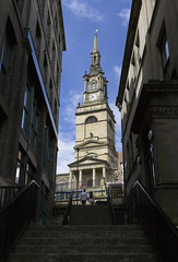 All Saints' Church, Newcastle upon Tyne, UK (Ministry) Tags: church allsaints newcastle upon tyne uk allhallows spire steeple elliptical baroque clock tower steps