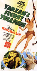 Tarzan's Secret Treasure (1941, USA) - 08 (kocojim) Tags: maureenosullivan illustrated kocojim publishing poster johnnyweissmuller advertising johnnysheffield film illustration motionpicture movieposter movie