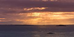 Voyage Illuminated (Kurt Evensen) Tags: norway ocean sunset nature water clouds sky seascape light sea seaside shore