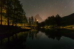 Notte al Lago 藍湖一夜 (kaising_fung) Tags: night stars peak cervino italy alps