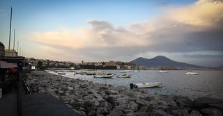 Vesuvius beyond the Naples bay
