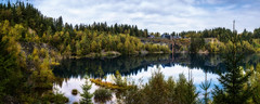 Abandoned Slate Quarry 'Staatsbruch' - Thuringia, Germany (dejott1708) Tags: slate quarry staatsbruch thüringen schiefer lehesten landscape panorama thuringia germany water lake reflections