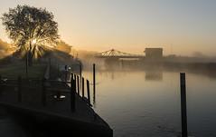 Reedham Sunrise (powern56) Tags: norfolk reedham riveryare railwaybridge swingbridge thewherrylines sunrise dawn
