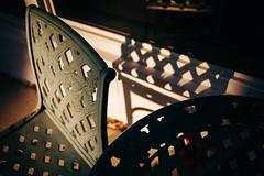 Ol' Iron Chair (davelawrence8) Tags: 2017 5d home light shadow summer sunset michigan usa