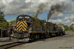 Throttle Up! (Trevor Sokolan) Tags: alco c425 c424 century diesel locomotive smoke exhaust fumes american avon newyork ny shortline lal branchline branch switcher trains train trainspotting tracks usa us merica railway railroad railfan rail railfanning