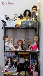 My Shelf Of Dolls And Books