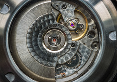 """""""Knowing where you fit in at Work..."""" - Life in the machine (Ian Johnston LRPS) Tags: life work watch gears cogs macro jewels metal automatic machine working spinning machined"""