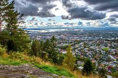 City View 2 (bjorbrei) Tags: city town view fjord sky clouds forest trees hill hillside marka grefsenåsen grefsenkollen grefsen oslo oslofjorden oslofjord norway