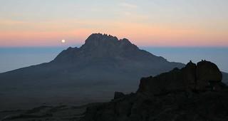 Mt Kilimanjaro Blue Hour Tanzania East Africa