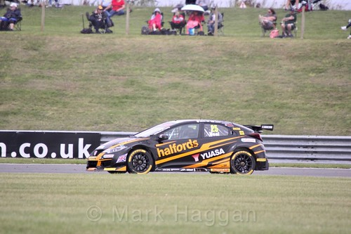 Matt Neal in BTCC action at Snetterton, July 2017