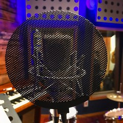 Full Protection (Pennan_Brae) Tags: studiolife musicproduction musicproducer mic recordingsession musicphotography music recordingstudio recording vocalist singer vocals singing sing musicstudio microphone