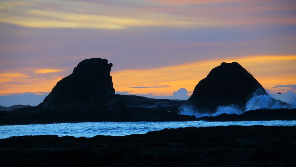 Sunset at Sunset Bay State Park, Oregon
