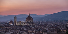 Florence Duomo at dusk (le cabri) Tags: cathedral basilica duomo church duomosantamariadelfiore dusk night sky bluehour ancient architecture europe wide famousplaces florence history italy monument renaissance romance travel tuscany city cityscape idyllic