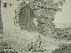 SUVÉE Joseph Benoît - Les Ruines d'un Monument carré, d'une Abside et d'un Acqueduc (drawing, dessin, disegno-Louvre INV32985) - Detail 05 (L'art au présent) Tags: art painter peintre details détail détails detalles drawings dessins dessins18e 18thcenturydrawings dessinsfrançais frenchdrawings peintresfrançais frenchpainters museum paris france ruines ruins stone stones pierre pierres pont bridge acqueduc nature apse fortification édifice building forteresse stronghold fortress croquis étude study sketch sketches antique antiquity ancient antiquités sacred holy blessed figure personnes people femme femmes woman man men