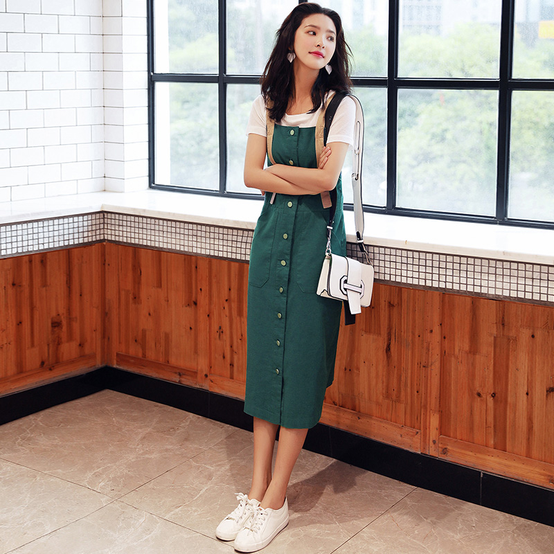 Straps, skirts, two piece sets, 2017 summer, new Korean Edition, casual students, suits, skirts, dresses, autumn dresses, women