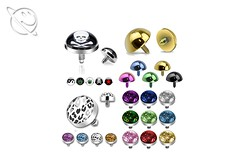 Multi Micro Dermal Anchor (Planet Face Body Jewellery) Tags: low price cheap 99p afordable alternative alt planet face body jewellery online buy uk united kingdom england whales scotland glitter leopard titanium anodised skull ying yang pot leaf rasda cannibis marijuana red star