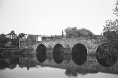 Devorgilla Reflected (bigalid) Tags: film 35mm ferrania p30 alpha bw lince 3 dumfries june 2017 bridge river devorgilla nith