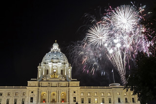 MN Capitol and Fireworks