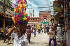 July Morning (amira_a) Tags: street delhi streetphotography colorful masjid india ricoh gr
