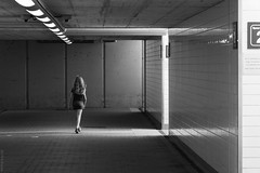 """""""alone"""" (B.Graulus) Tags: photography picture streetphotography monochrome girl canon herent flanders belgium belgië"""